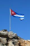 可用的古巴标志玻璃样式向量 免版税库存照片