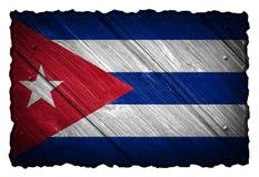 可用的古巴标志玻璃样式向量 库存图片
