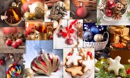 可用的圣诞节拼贴画向量 库存图片
