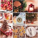 可用的圣诞节拼贴画向量 免版税库存照片