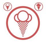 可用的奶油色冰图标向量 免版税库存图片