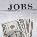 可用的工作 免版税库存图片