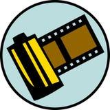 可用的影片摄影卷轴卷向量 库存图片