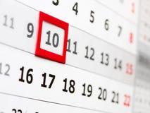 可用的日历更多页系列墙壁 免版税库存照片