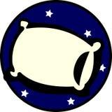 可用的晚上枕头休眠星形向量 免版税库存图片