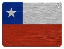 可用的智利标志玻璃样式向量 免版税库存图片