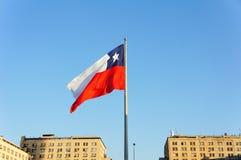 可用的智利标志玻璃样式向量 免版税库存照片