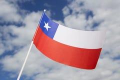 可用的智利标志玻璃样式向量 图库摄影