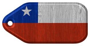 可用的智利标志玻璃样式向量 库存照片