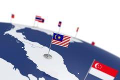 可用的标志玻璃马来西亚样式向量 库存照片