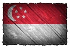可用的标志玻璃新加坡样式向量 免版税库存图片