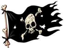 可用的标志玻璃海盗样式向量 库存照片