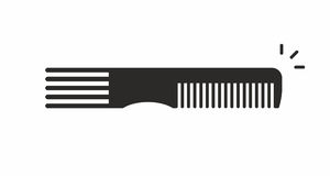 可用的梳子文件图标向量 库存例证