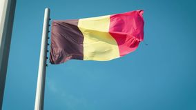 可用的比利时标志玻璃样式向量 比利时标志 股票视频