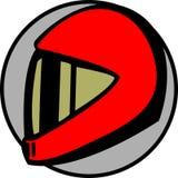 可用的汽车司机盔甲摩托车向量 免版税库存照片