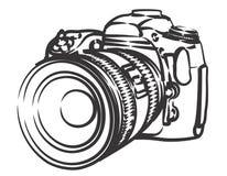 可用的照相机例证专业人员向量 免版税库存图片