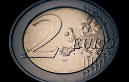 2可用的硬币欧洲高分辨率向量非常 免版税库存图片