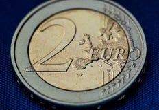 2可用的硬币欧洲高分辨率向量非常 免版税库存照片