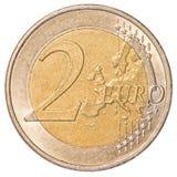2可用的硬币欧洲高分辨率向量非常 免版税图库摄影