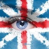 可用的英国标志玻璃样式向量 免版税库存图片