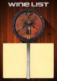可用的设计列表向量酒 皇族释放例证