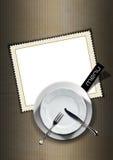 可用的设计菜单餐馆向量 免版税库存照片