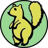 可用的逗人喜爱的蓬松灰鼠尾标向量 免版税库存照片