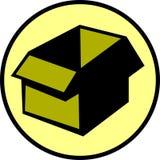 可用的配件箱纸板空文件向量 免版税库存图片