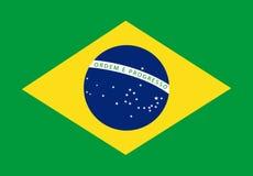 可用的巴西标志玻璃样式向量 皇族释放例证
