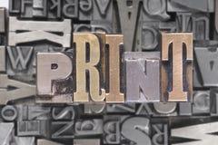 可移动的打印类型 库存图片