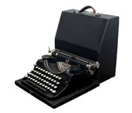 可移植的打字机葡萄酒 库存图片