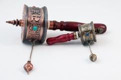 可移植的空白祷告西藏的轮子 免版税库存照片
