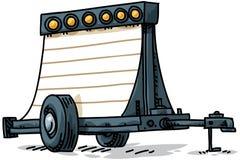 可移植的符号拖车 库存例证