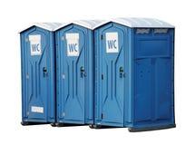 可移植的洗手间 库存照片
