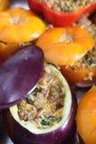 可立即烹调的被充塞的蔬菜 免版税图库摄影