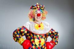 可笑概念的滑稽的小丑 库存照片