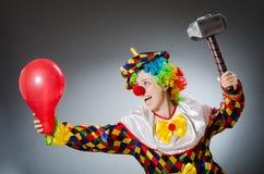 可笑概念的滑稽的小丑 图库摄影