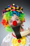 可笑概念的滑稽的小丑 库存图片
