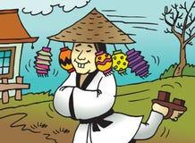 可笑的中国动画片 免版税库存照片