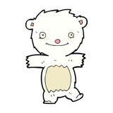 可笑的动画片北极熊崽 免版税图库摄影