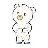 可笑的动画片北极熊崽 库存照片