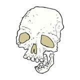 可笑的动画片古老鬼的头骨 免版税图库摄影