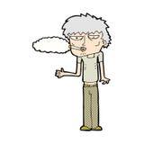 可笑的动画片吸烟者 免版税库存图片