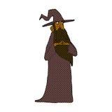 可笑的动画片巫术师 库存图片