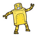 可笑的动画片机器人 免版税库存照片