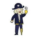 可笑的动画片海盗上尉 库存照片