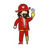 可笑的动画片海盗上尉 图库摄影