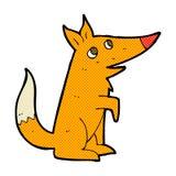 可笑的动画片狐狸崽 免版税图库摄影