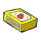 可笑的动画片盒比赛 库存照片