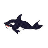 可笑的动画片虎鲸 库存图片